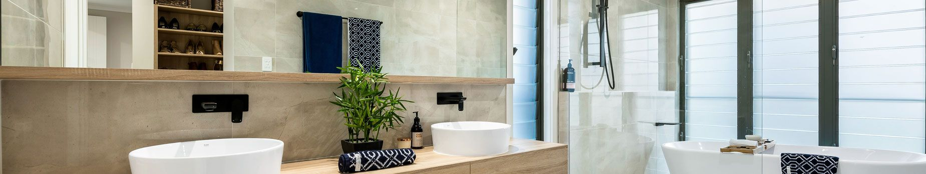 A modernised bathroom